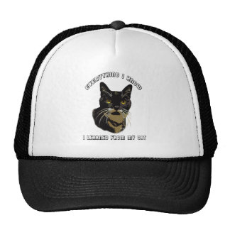 EVERYTHING I KNOW TRUCKER HAT
