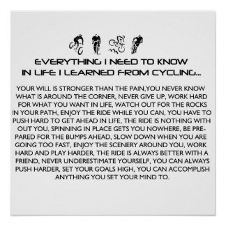EVERYTHING I LEARNED-CYCLE POSTER