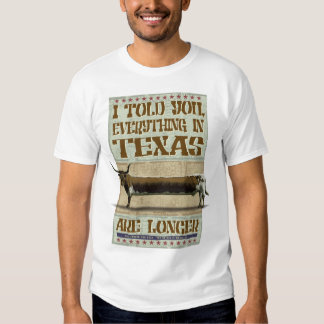 EVERYTHING IN TEXAS ARE LONGER TEE SHIRT