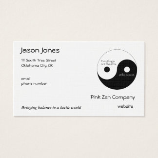 Everything Is As It Should Be Business Card