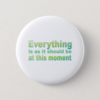 Everything is as it should be pinback button