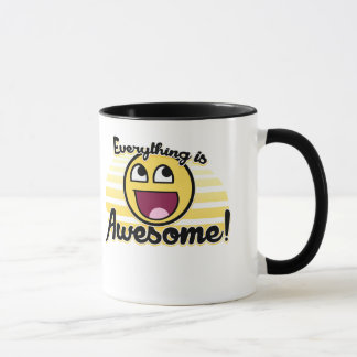 Everything is awesome smiley mug