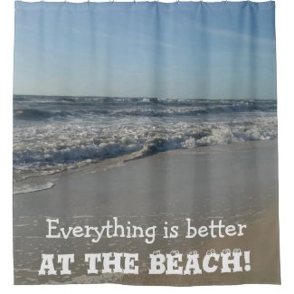 BEACH Photography Shower Curtain