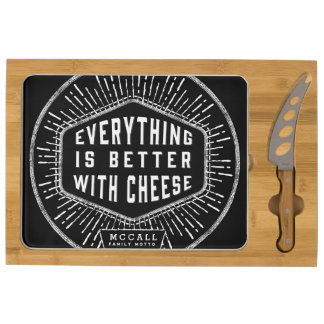 Everything Is Better With Cheese Rectangular Cheese Board