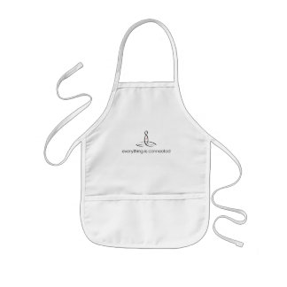 Everything Is Connected - Black Regular style Kids' Apron