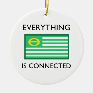 Everything Is Connected Ceramic Ornament