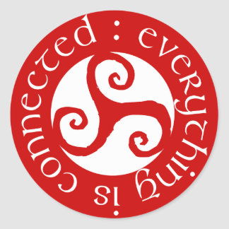 Everything Is Connected Classic Round Sticker