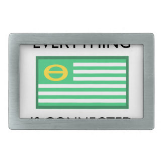 Everything Is Connected Rectangular Belt Buckle