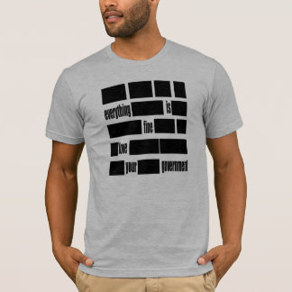 Everything is FINE. Love your Government. T-Shirt
