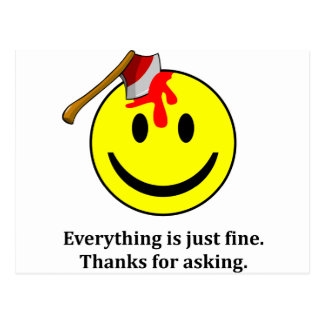 Everything is fine. postcard