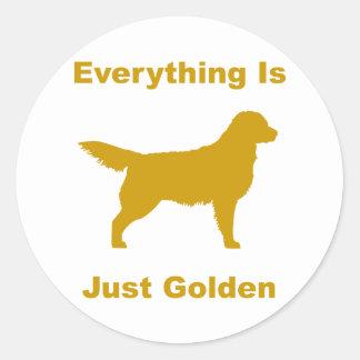 Everything Is Just Golden Round Sticker