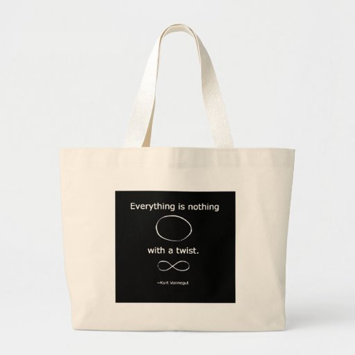 Everything is Nothing with a twist solidchainwear Large Tote Bag