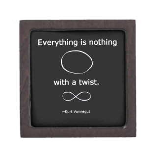 Everything is Nothing with a twist solidchainwear Premium Keepsake Box