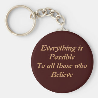 Everything is Possible Basic Round Button Keychain