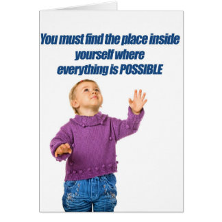 Everything is possible kid design card