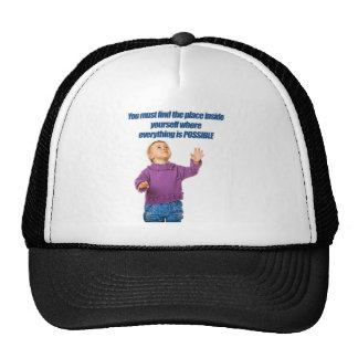 Everything is possible kid design cap