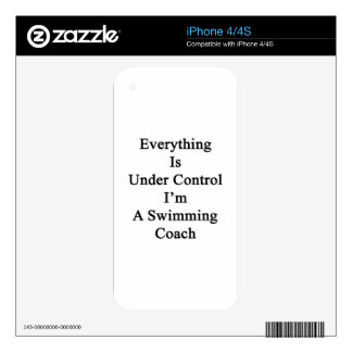 Everything Is Under Control I'm A Swimming Coach Skin For iPhone 4