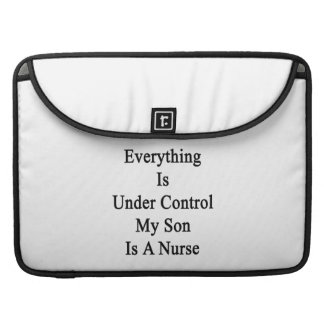 Everything Is Under Control My Son Is A Nurse Sleeves For MacBooks