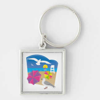 Everything s Just Beachy Key Chain