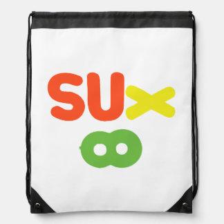 Everything Sucks ~ Sux Infinity Drawstring Bag