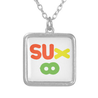 Everything Sucks ~ Sux Infinity Silver Plated Necklace