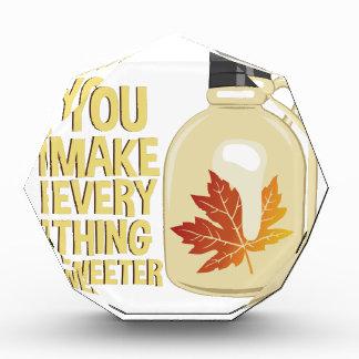 Everything Sweeter Acrylic Award