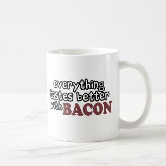 everything tastes better bacon classic white coffee mug