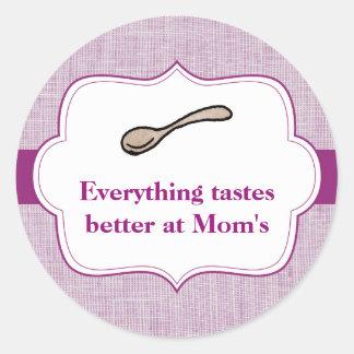Everything Tastes Better Classic Round Sticker