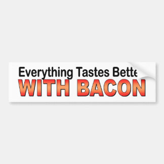 Everything Tastes Better With Bacon funny sticker