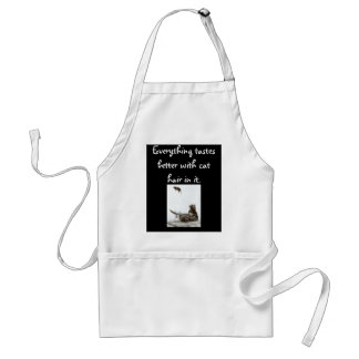 Everything Tastes Better WIth Cat Hair In It Adult Apron