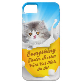 Everything Tastes Better With Cat Hair In It Kitty iPhone SE/5/5s Case
