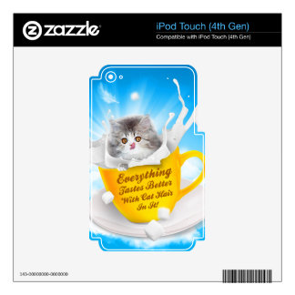 Everything Tastes Better With Cat Hair In It Kitty iPod Touch 4G Decal