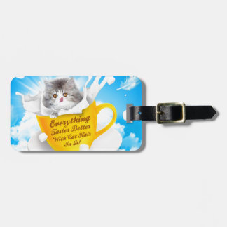 Everything Tastes Better With Cat Hair In It Kitty Luggage Tag