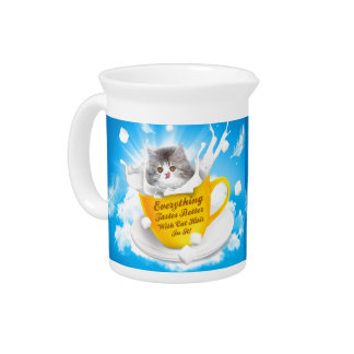 Everything Tastes Better With Cat Hair In It Kitty Pitcher