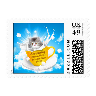 Everything Tastes Better With Cat Hair In It Kitty Postage