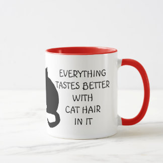 Everything Tastes Better With Cat Hair Mug