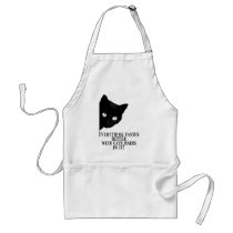 Everything tastes better with cat hairs in it adult apron