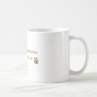 everything tastes better with doghair in it mugs
