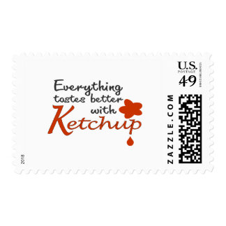Everything Tastes Better With Ketchup Postage