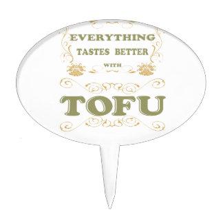 Everything tastes better with tofu cake picks
