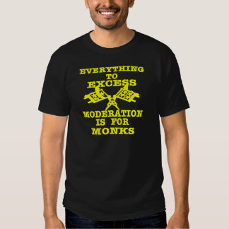 Everything To Excess Moderation Is For Monks T-shirt