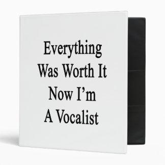 Everything Was Worth It Now I'm A Vocalist Vinyl Binder