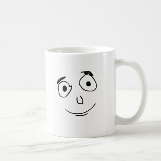 everything went better than expected comic face coffee mug