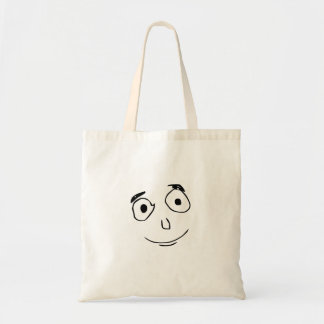 everything went better than expected comic face tote bag
