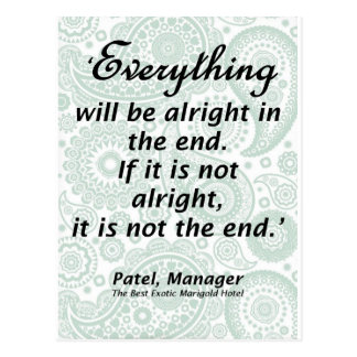Everything will be alright in the end Postcard