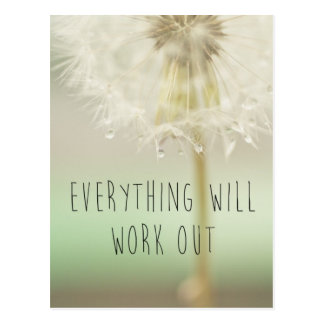 Everything Will Work Out Inspirational Postcard