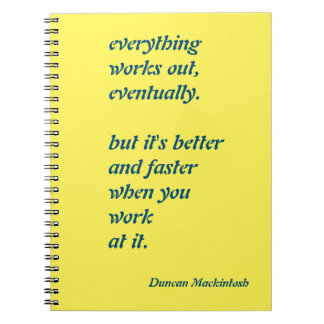 Everything Works Out Notebook