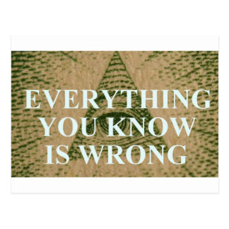 Everything you know is wrong postcard