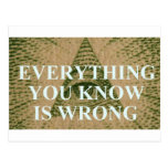 Everything you know is wrong postcards