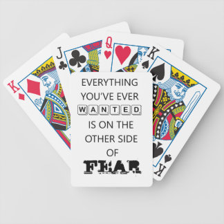 everything you've ever wanted is on the   other si bicycle playing cards